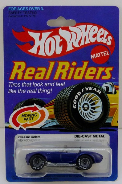 Hot Wheels Real Riders1983 Shelby Cobra Real Riders Black